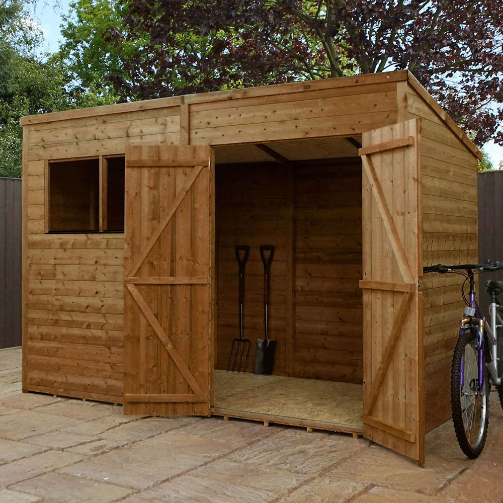 Garden Sheds 6 X 10 mercia shiplap pent shed with single door 6 x 10 (1.79m x 3.12m