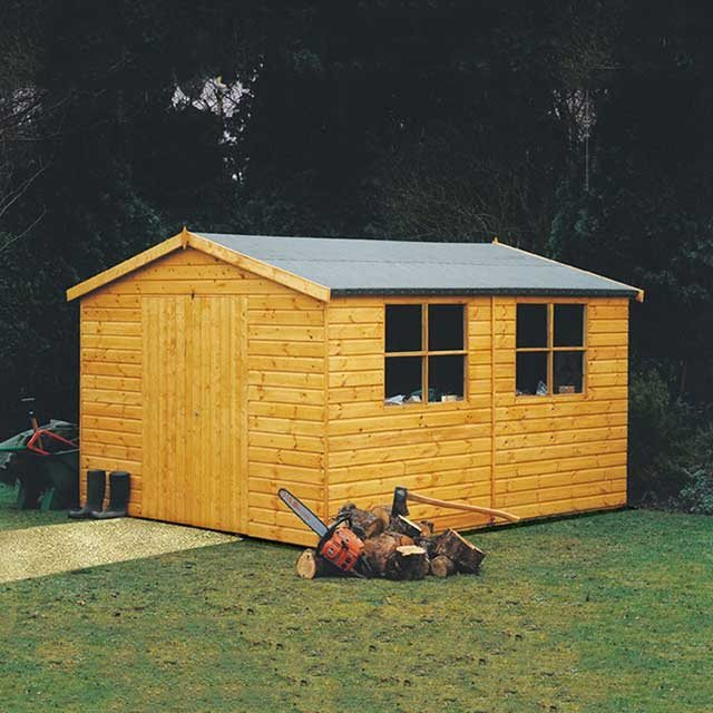 Garden Sheds 12x8 goodwood bison professional apex shed 12 x 8 (3.59m x 2.39m