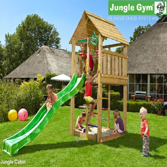Jungle Gym Cabin Climbing Frame Elbec Garden Buildings