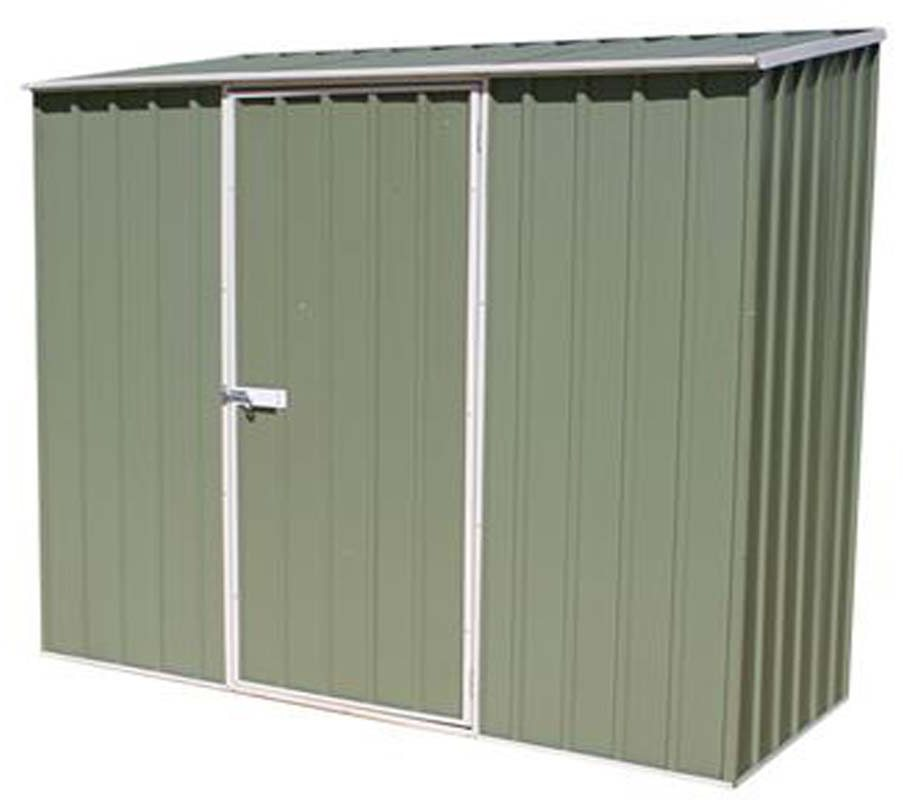 7 x 3 226m x 078m mercia space saver metal shed eucalyptus
