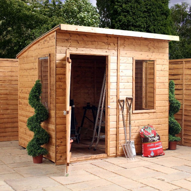 6 x 8 210m x 241m mercia aero shiplap wooden shed with single door