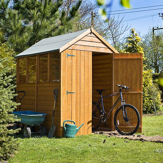 Garden Sheds 7x5 shire overlap apex garden shed with double doors 7 x 5 - elbec
