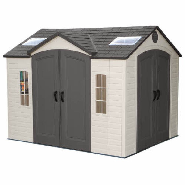 Lifetime Plastic Shed 10 X 8 With Double Entry Elbec