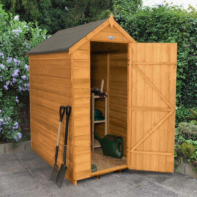 Forest overlap apex garden shed no windows 6x4 elbec for Garden shed 6x4