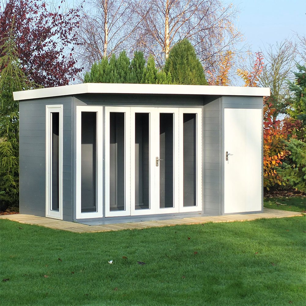 Shire Aster Summerhouse With Side Storage 12x8 Elbec