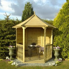 6 x 7 (1.87m x 2.16m) Shire Summerhouse Arbour