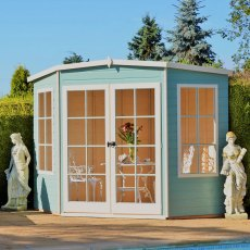 7 x 7 (2.05m x 2.05m) Shire Hampton Corner Summerhouse