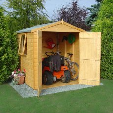 6 x 6 (1.79m x 1.79m) Shire Arran Apex Shed