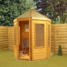 6 x 6 (2.00m x 1.90m) Mercia Traditional Octagonal Summerhouse