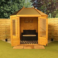 8 x 6 (2.30m x 1.90m) Mercia Traditional Octagonal Summerhouse
