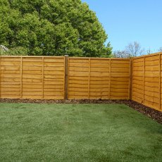 4ft High (1220mm) Mercia Waney Edge (Lap) Fencing Packs