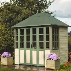 8 x 6 (2.34m x 1.87m) Rowlinson Chatsworth Summerhouse