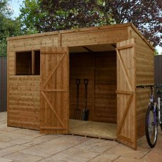 6 x 10 (1.81m x 3.00m) Mercia Shiplap Pent Shed with Single Door