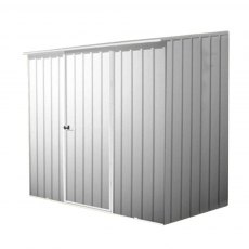 7 x 5 (2.26m x 1.52m) Mercia Space Saver Metal Shed (Zinc)