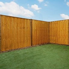 6ft High (1829mm) Mercia Closeboard Vertical Hit and Miss Fence Panels