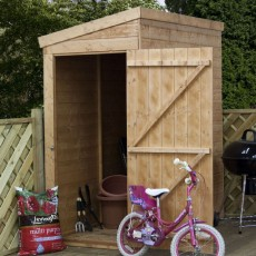 6 x 3 (1.82m x 1.01m) Mercia Shiplap Pent Shed with Single Door