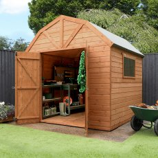 8 x 8 (2.40m x 2.43m) Mercia Dutch Barn Shed