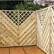 6ft High (1800mm) Arnold Pressure Treated Fencing Packs with Integral Trellis
