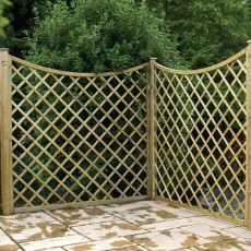 6ft High (1800mm) Carlton Pressure Treated Trellis