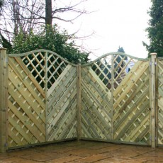 6ft High (1800mm) Mercia Oakham Pressure Treated Fencing Packs with Integral Trellis