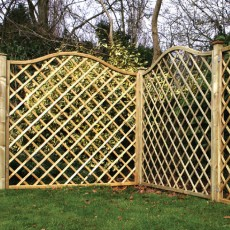 6ft High (1800mm) Kirton Pressure Treated Trellis