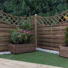 5ft High (1500mm) Mercia Norton Pressure Treated Fence Panels with Integrated Trellis