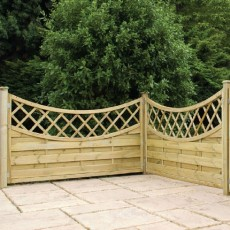 3ft High (1000mm) Vittoria Pressure Treated Fencing Packs with Integrated Trellis