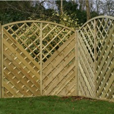 6ft High (1800mm) Southwell Pressure Treated Fencing Packs with Integral Trellis