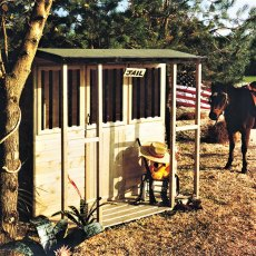 6 x 4 (1.79m x 1.19m) Wild West Playhouse