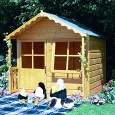 5 x 5 (1.49m x 1.50m) Shire Kitty Playhouse