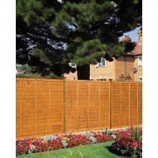 5ft High (1500mm) Grange Professional Lap Fencing Packs - Golden Brown