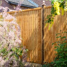 6ft High (1800mm) Grange Closeboard Fencing Packs - Golden Brown