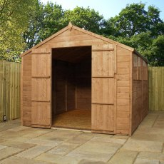 10 x 8 (3.02m x 2.48m) Mercia Shiplap Shed with Double Doors
