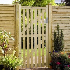 6ft High (1800mm) Grange Pale Gate - Pressure Treated