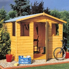 6 x 8 (1.79m x 2.39m) Goodwood Orkney Professional Apex Shed