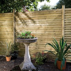 6ft High (1800mm) Grange Louvre Fencing Packs - Pressure Treated
