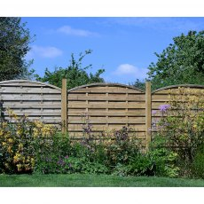 6ft High (1800mm) Grange Elite St Carne Dome Pressure Treated Fencing Packs