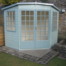 8 x 8 (2.39m x 2.39m) Goodwood Gold Windsor Corner Summerhouse