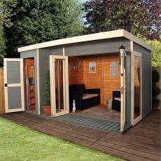 12 x 8 (3.60m x 2.40m) Mercia Garden Room Summerhouse with Side Shed