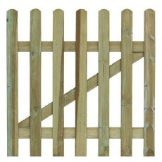 3ft High (900mm) Grange Round Top Palisade Gate - Pressure Treated