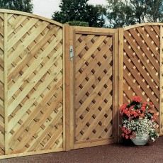 6ft High (1800mm) Grange Elite Chevron Gate - Pressure Treated
