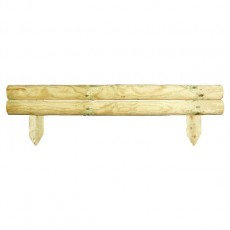 6in High (150mm) Grange Horizontal Log Board Edging (Pack of 4)