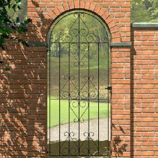 6 x 3 (1800mm x 810mm) Metpost Ludlow Bow Top Tall Scroll Gate extra wide