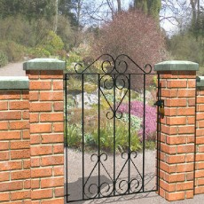 3 x 3 (900mm x 840mm) Metpost Ludlow Bow Small Scroll Gate extra wide