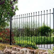 3ft High (900mm) Metpost Wenlock Ball Top Metal Fence Packs