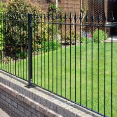 3ft High (935mm) Metpost Montford Spear Top Metal Fence Packs