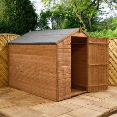 8 x 6 (2.41m x 1.90m) Mercia Shiplap Apex Windowless Shed