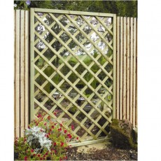 Grange Garden Mirror Lattice Screen
