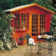 10 x 6 (2.99m x 1.79m) Goodwood Gold Sandringham Summerhouse