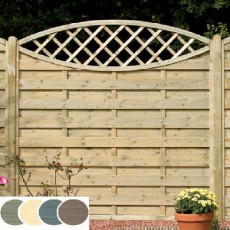 6ft High (1800mm) Grange Elite Eyecatcher Pressure Treated Fencing - Heritage Blue